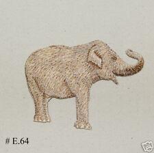 1Pc~Jungle Animal Elephant~Iron On Embroidered Applique