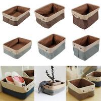 3 Size Thicken Laundry Basket Washing Clothe Toy Organizer Folding Storage Bags