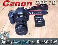 Canon EOS 7D Camera DS126251 w/ 18-135mm Lens, Strap, Charger, Filter, 16GB Card