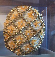 4 KIM SEYBERT NAPKIN Holder Ring Easter Egg Gold Oval Floral Spring Set