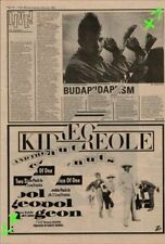 Kid Creole & The Coconuts Stool Pigeon Advert NME Cutting 1982