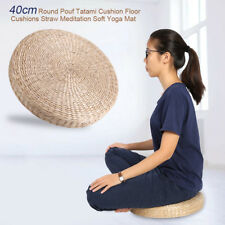 40cm Pouf Tatami Seat Cushion Meditation Yoga Mat Natural Straw Pillow Round New