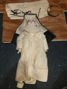 """Antique Nun Doll Bisque Made in Germany 18"""""""