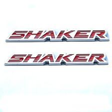 2x OEM SHAKER Hood Emblem Badge 3D Dodge Challenger Charger F Chrome Red