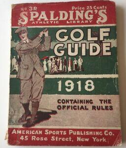 1918 Spalding Golf Guide
