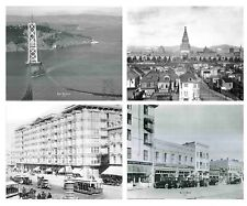 Vintage San Francisco City Palace Hotel Black And White Set 16x20 Wall Decor Art