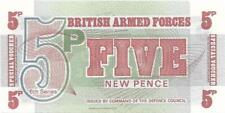 UK ARMED FORCES 5 Pence PM - 47; UNC from 1972; FREE SHIPPING Canada / USA