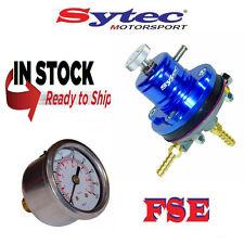 FSE SYTEC Ajustable Regulador De Presión De Combustible Azul con barra de calibre MSV001B 1.5-6