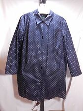 B WOMANS 100 % COTTON NAVY WHITE POLKA DOT RAIN COAT RALPH LAUREN 2X $250