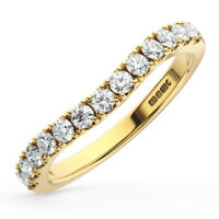 0.40 Ct Round Brilliant Cut Diamond Half Eternity Ring in 9K Yellow Gold