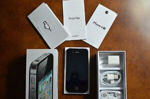NEW Black iPhone 4S 16GB Unlocked + 1-Year Warranty TMobile Straight Talk