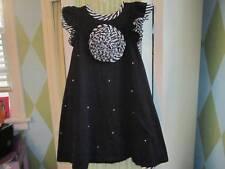 KID CUTE TURE KIDCUTE TURE KCT girls ruffled bustle flower applique dress Sz 6