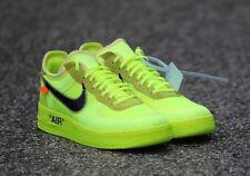 New Off-White x Nike Air Force 1 Volt/Cone-Black-Hyper Jade | AO4606-700