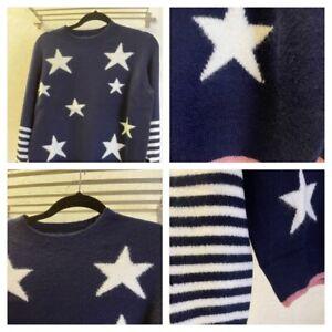 F+F Ladies Star Pattern Jumper Sizes 6-18 Brand New