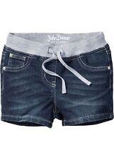 Superweiche Shorts m elastischem Bund Gr. 158 Blau Mädchen Kurz-Hose Bermuda Neu