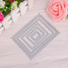 Rectangle Metal Cutting Dies Stencil For Scrapbooking Paper Cards Decor DIY NEW