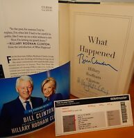 """DUAL AUTOGRAPH """"What Happened"""" Book SIGNED by both BILL & HILLARY CLINTON *HOT!*"""