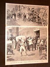 Provvedimenti per il pane a Napoli nel 1898 Distribuzione della farina ai fornai