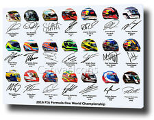 "F1 DRIVERS Canvas art print poster foto 30 ""X20"" F1 2016 HAMILTON VETTEL ALONSO"