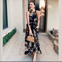NWT Free People Anita Printed Maxi Dress Floral Sz M Retail $128