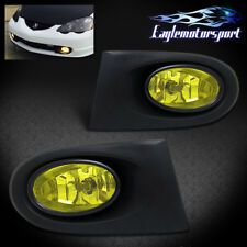 2002 2003 2004 Acura RSX Yellow Lens Front Fog Lights Driving Lamps Assembly