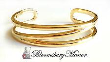 "Tiffany & Co. 18k Yellow Gold Zig Zag Bracelet Cuff Bangle fits to 6.25""/ 15.8cm"