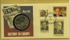 US Comm/FDC - Victory in Europe with Coin - 1995 (435)