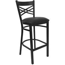 Flash Furniture Metal Restaurant Bar Stool, Black - XU-6F8BXBK-BAR-BLKV-GG