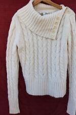 BANANA REPUBLIC medium cream ANgora & Wool pull-over TURTLENECK sweater