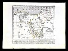 1849 Houze Map Journey of the Israelites Egypt Canaan Arabia Old Testament