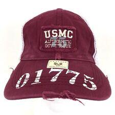 USMC MARINE CORPS LOGO MILITARY MESH BACK BASEBALL CAP HAT DISTRESSED SNAPBACK