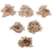 Dreiecksform Unvollendet Ausgeschnitten Holzstücke Scheibe Hängen