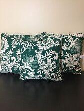 3 Waverly Home Fashion  Green White Floral THROW PILLOWS