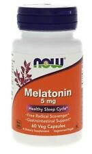 MELATONIN 5 mg (60 vege caps) Healthy Sleep Cycle / NOW FOODS