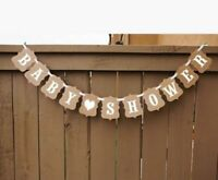 BABY SHOWER HEART BUNTING BANNER FOR BOY OR GIRL PARTIES DECORATION GARLAND UK