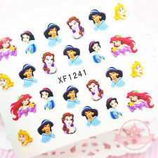 Disney Princess Girl Cartoon nail tattoo stickers water transfer decals manicure