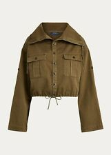 NWT $198 Polo Ralph Lauren Womens XL Drawcord Cotton Twill Jacket