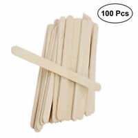 100X Wooden Popsicle Sticks Kids Hand Crafts Ice Cream Lolly DIY Art Kids Toy TS