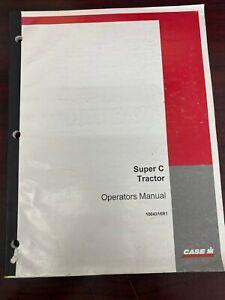 Operators Manual for Case IH Super C Tractor