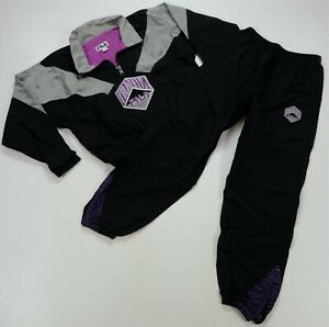 Rare VTG FILA Spell Out Patch 1/4 Zip Track Jacket Pants Outfit Jumpsuit 90s M