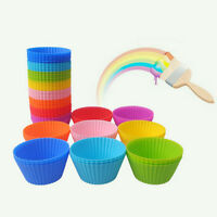 10pcs Soft Silicone Cake Muffin Chocolate Cupcake Bakeware Baking Cup Mold Mould