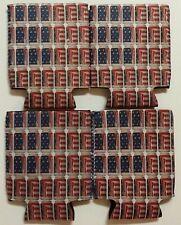 4 Pack Budweiser American 12oz Can Koozie Coozie Coolie Hugie King Beer Water