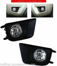 REPLACEMENT FOG LIGHT SET LAMPS  FOR 2012 - 2015 TOYOTA TACOMA BEZELS LAMPS
