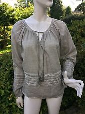 £42REDUCED Van Den Bergh Blouse Top Shirt Tassels Long Sleeved Uk 10 lightweight