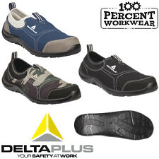 Lightweight Slip On Mens Womens Delta Steel Toe Cap Safety Work Trainers Shoes