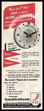 Publicité pendule  JAZ  pendulum Watch  vintage print ad  1958  - 4i