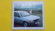 Peugeot 305 GL GR SR GLD GLS S brochure sales catalogue 1982 MINT