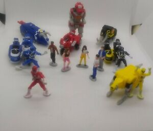 Vintage Micro Machines Power Rangers Dino Zord and Figure Lot of 16 Different