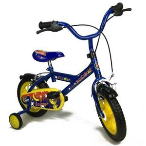 NEW  Rocket Blue 12 inch Boys Pavement Cycle Bicycle Bike with Training Wheel