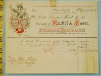 1882 Keuffle & Esser K&E New York Drawing Supply Reciept Surveying Engineering